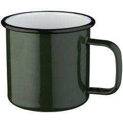 Cana metalica 475 ml, cu maner, Everestus, 20IAN2403, Verde, Email