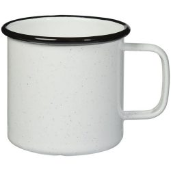 Campfire mug, Enamel, White, solid black
