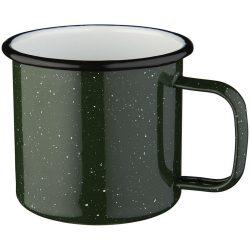 Campfire mug, Enamel, Green,White