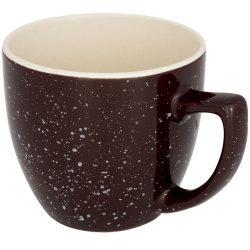 Cana ceramica 325 ml cu finisaj patat, Everestus, 20IAN1172, Maro