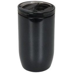 Cana termoizolanta, perete dublu, 380 ml, pentru voiaj, Everestus, LM, otel inoxidabil, negru