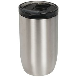 Cana termoizolanta, perete dublu, 380 ml, pentru voiaj, Everestus, LM, otel inoxidabil, argintiu, saculet de calatorie inclus