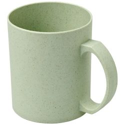 Pecos 350 ml wheat straw mug, 50% wheat straw fibre, 50% PP plastic, mint