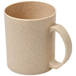 Pecos 350 ml wheat straw mug, 50% wheat straw fibre, 50% PP plastic, Beige