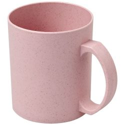 Pecos 350 ml wheat straw mug, 50% wheat straw fibre, 50% PP plastic, Pink