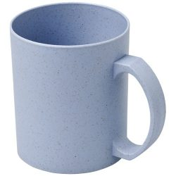Pecos 350 ml wheat straw mug, 50% wheat straw fibre, 50% PP plastic, Grey