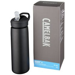 Eddy+ 600 ml copper vacuum insulated sport bottle, Stainless steel,  solid black