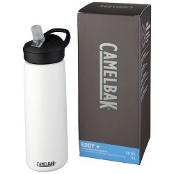 Eddy+ 600 ml copper vacuum insulated sport bottle, Stainless steel, White