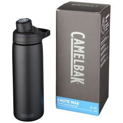 Chute Mag 600 ml copper vacuum insulated bottle, Stainless steel,  solid black