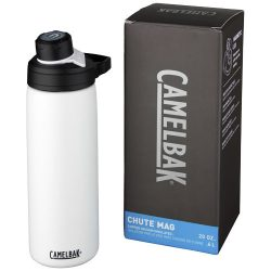 Chute Mag 600 ml copper vacuum insulated bottle, Stainless steel, White