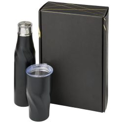 Hugo copper vacuum insulated gift set, Stainless steel,  solid black