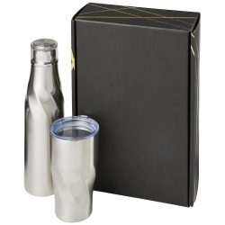 Hugo copper vacuum insulated gift set, Stainless steel, Silver