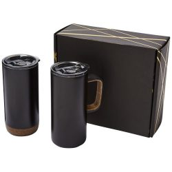 Valhalla mug and tumbler copper vacuum gift set, Stainless steel,  solid black