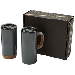 Valhalla mug and tumbler copper vacuum gift set, Stainless steel, Grey