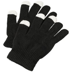Billy tactile gloves, Acrylic,  solid black