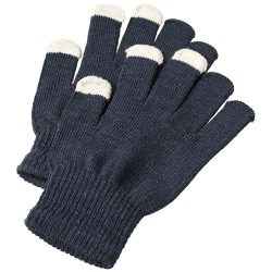 Billy tactile gloves, Acrylic, Navy
