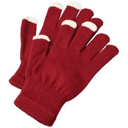 Billy tactile gloves, Acrylic, Red