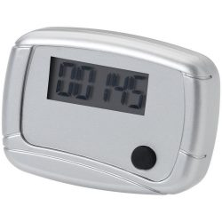 In-shape pedometer step counter, Plastic, Silver