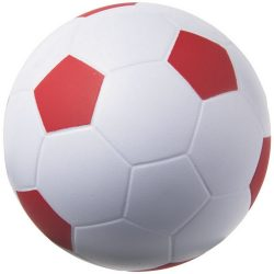 Football stress reliever PU foam ball, PU foam, White, Red