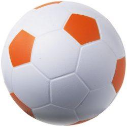 Jucarie antistres Minge de Fotbal, Everestus, ASJ045, poliuretan, portocaliu, alb
