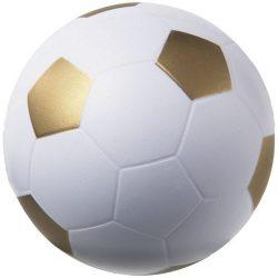 Jucarie antistres Minge de Fotbal, Everestus, ASJ046, poliuretan, auriu, alb