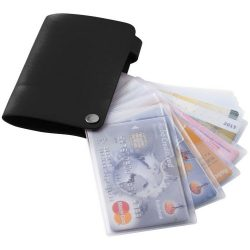 Valencia card holder with 10 slots, PVC, solid black