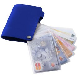 Valencia card holder with 10 slots, PVC, Royal blue
