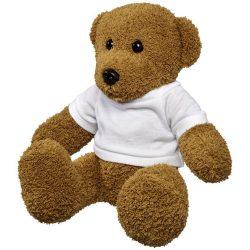 Ursulet de Plus, cu tricou, Everestus, SX, poliester, alb