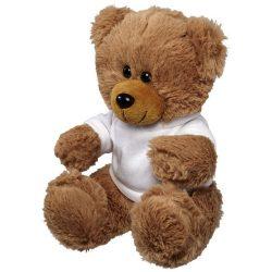 Ursulet de Plus, cu tricou, Everestus, IR, poliester, alb