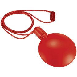 Blubber round bubble dispenser, PE, Red