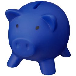 Piggy Bank, PVC for body, PS for lid, Blue