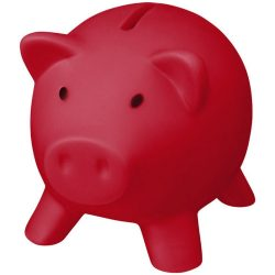 Piggy Bank, PVC for body, PS for lid, Red