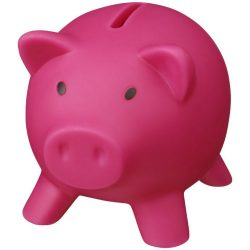 Piggy Bank, PVC for body, PS for lid, Pink