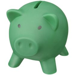 Piggy Bank, PVC for body, PS for lid, Green