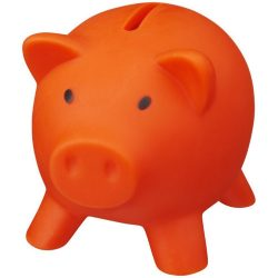 Piggy Bank, PVC for body, PS for lid, Orange