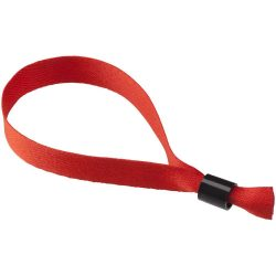 Taggy bracelet with security lock, Polyester, Red