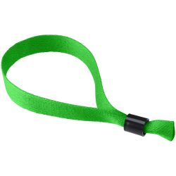 Taggy bracelet with security lock, Polyester, Green