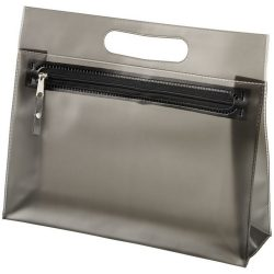 Paulo transparent PVC toiletry bag, PVC, solid black