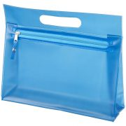 Paulo transparent PVC toiletry bag, PVC, Blue