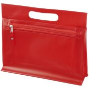 Paulo transparent PVC toiletry bag, PVC, Red