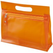 Paulo transparent PVC toiletry bag, PVC, Orange