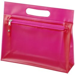 Paulo transparent PVC toiletry bag, PVC, Pink