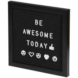 Tablita decorativa pentru mesaje, plastic, Everestus, ABE14, negru, lupa de citit inclusa
