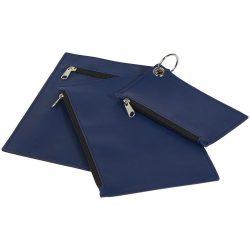 Set 3 portofele pentru chei, numerar si documente, cu fermoar, Everestus, PPE02, poliester, albastru, 6x124x190 mm, lupa inclusa