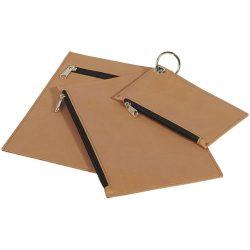 Set 3 portofele pentru chei, numerar, documente, cu fermoar, Everestus, PPE03, poliester, portocaliu, 6x124x190 mm, lupa inclusa