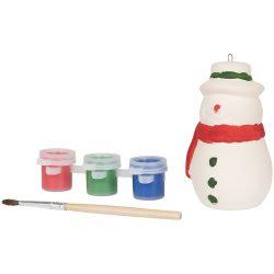 Paint A snowman, Ceramic, White