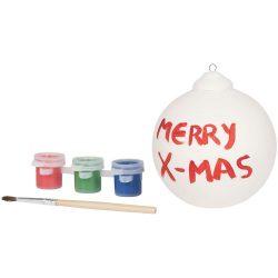 Paint an ornament, Ceramic, White