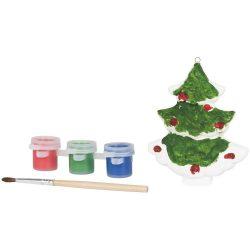 Paint a christmas tree, Ceramic, White
