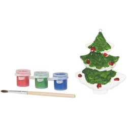 Paint a christmas tree, Ceramic, White