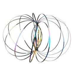 Joc de relaxare cu Cercuri Antistres, Everestus, JJE15, otel inoxidabil, multicolor
